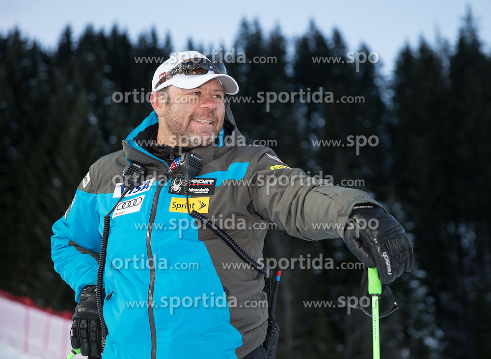 13.01.2015, Hermann Maier Weltcupstrecke, Flachau, AUT, FIS Weltcup Ski Alpin, Flachau, Slalom, Damen, Kursbesichtigung, im Bild US-Alpindirektor Patrik Riml // US-Alpindirektor Patrik Riml during the course inspection for the ladie's Slalom of the FIS Ski Alpine World Cup at the Hermann Maier Weltcupstrecke in Flachau, Austria on 2015/01/13. EXPA Pictures © 2015, PhotoCredit: EXPA/ JOHANN GRODER