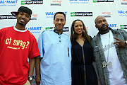 """Terrence J, Congressmen Mel Watt, Valiesha Butterfieild and Bun B at the Hip-Hop Summit's """"Get Your Money Right"""" Financial Empowerment International Tour draws hip-hop stars and financial experts to teach young people about financial literacy held at The Johnson C. Smith University's Brayboy Gymnasium on April 26, 2008..For the past three years, hip-hop stars have come out around the country to give back to their communities. Sharing personal stories about the mistakes they've made with their own finances along the way, and emphasizing the difference between the bling fantasy of videos and the realities of life, has helped young people learn the importance of financial responsibility while they're still young. With the recent housing market crash in the United States affecting the economy, jobs, student loans and consumer confidence, young people are eager to receive sound financial advice on how to best manage their money and navigate through this volatile economic environment.."""