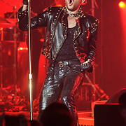 "COLUMBIA, MD - July 20th, 2014 - 2009 American Idol runner-up Adam Lambert performs with Queen at Merriweather Post Pavilion in Columbia, MD. Lambert sang such Queen classics as ""Another One Bites the Dust"" and ""Stone Cold Crazy."" (Photo by Kyle Gustafson / For The Washington Post)"