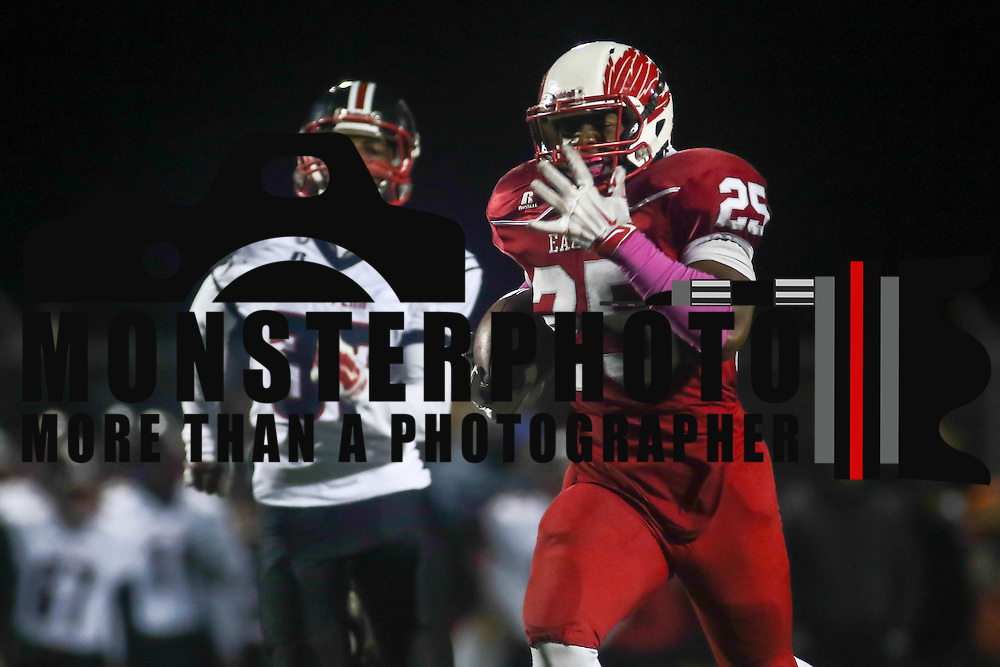 Smyrna running back William Knight (25) scores a 89-yard touch down during a DIAA semi finals football game between No. 2 Smyrna and No. 3 William Penn Saturday, Nov. 26, 2016 at Charles V. Williams Stadium in Smyrna.