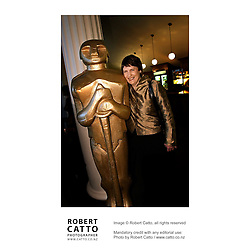 New Zealand Prime Minister Helen Clark celebrates Oscar Night at the Embassy Theatre, Wellington New Zealand.<br /> <br /> Director Peter Jackson and the crew of Lord Of The Rings: Return of the King won a record 11 Oscars, winning every category they were nominated in.
