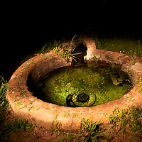 The Perine Well is one of the ruins visitors can see at Old Cahawba Archaeological Park near Selma, Ala. According to a informational sign at the well, the artesian well provided cool water for Alabama's first air conditioning system in the home of E.M. Perine.<br /> <br /> [The well was photographed at night using a technique called light painting Thursday, April 15, 2010.]