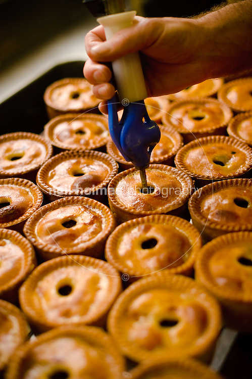 David Edwards making pork pies at A. Laverack & Sons, Holme on Spalding Moor