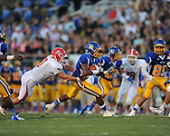 Oxford High's Jarius Barnes (1) vs. Jackson Prep in Oxford, Miss. on Friday, August 23, 2013. Oxford won 32-20.