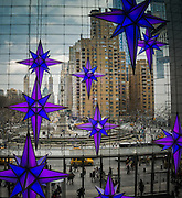 Christmas decorations in The Time Warner Building in New York City