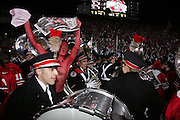 COLUMBUS, OH - November 18:  2006 Ohio State University Marching Band and fans celebrate the win over Michigan. Credit: Bryan Rinnert