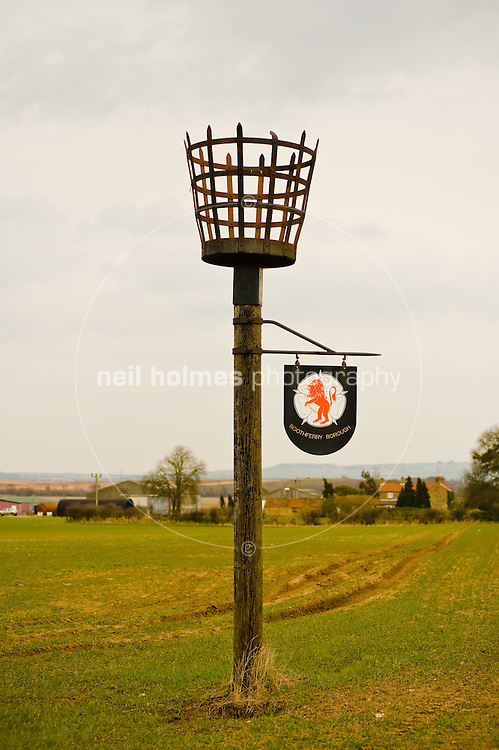 Holme Beacon, a replica of an Elizabethan beacon, which is located on Harswell Lane. Holme on Spalding Moor