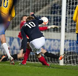 Falkirk's Jay Fulton misses..Falkirk 2 v 0 Cowdenbeath, 15/12/2012..©Michael Schofield.