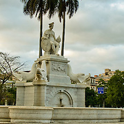 Fountain of the Indian in the Park of the Indian, Central Havana, Habana Centro, Cuba.