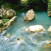 Natural pool in Laos rain forest