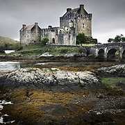 Eilean Donan Castle along the shores of Loch Duich Scotland