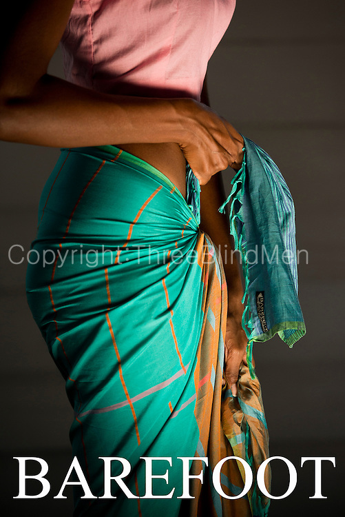 A beach wrap or Pareo on hand woven cotton.<br /> BAREFOOT PVT LTD.