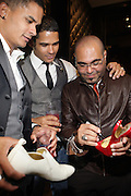 l to r: Shane Ward, Shawn Ward and Nole Marin at 'Spring on Mulberry Block Party'  celebration for Shane and Shawn Shoes sponsored by Bombay Sapphire and held at The Shane & Shawn Store in New York City on May 7, 2009