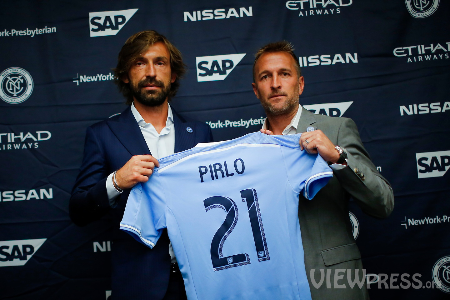 Andrea Pirlo new player of New York City FC in USA