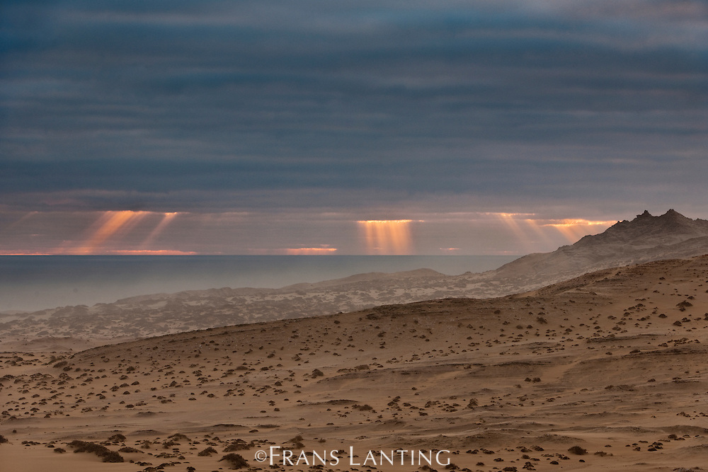 Sunset over Spencer Bay, Namib-Naukluft National Park, Namibia