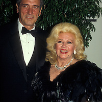Rock Hudson and Ginger Rogers in Washington, DC in May 1984.
