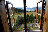 VOSS, NORWAY 20071002; Scenic view from cabin window, overlooking the Voss Valley in Norway. PHOTO BY TOM HANSEN