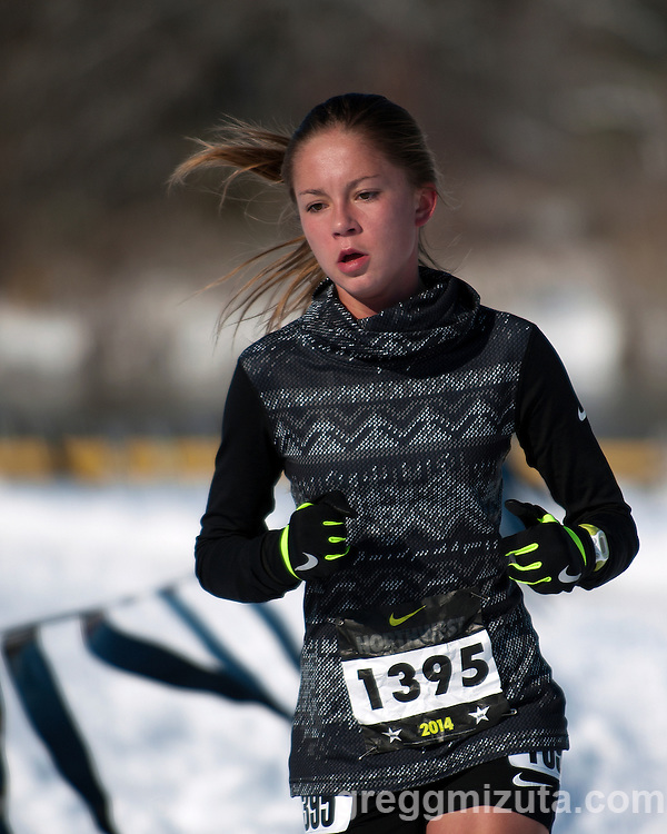 Billie Hatch, NXN Northwest girls varsity race, November 15, 2014 at Eagle Island State Park, Eagle, Idaho.