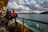 Sydney Harbor, Australia: Aboard the ferry to Manly Beach.