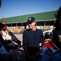 Denis O'Neil is interviewed at Churchill Downs in Louisville, KY on May 01, 2013. (Alex Evers/ Eclipse Sportswire)