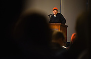 Tim O'Brien speaks during the Visiting Writers series at The Hemmingson Center in February 6, 2017. (Photo by Gonzaga University)
