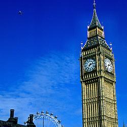 Big Ben and the London Eye, London, England