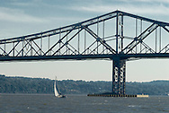 Tappan Zee Bridge, is a cantilever bridge over the Hudson River  connects Nyack in Rockland County with Tarrytown in Westchester County. New York