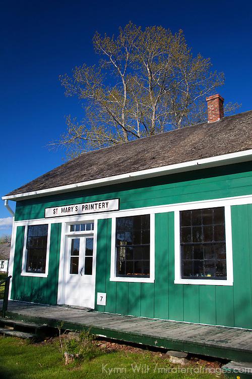 North America, Canada, Nova Scotia, Sherbrooke. Sherbrooke Village Printery, part of an open air museum in Guysborough.
