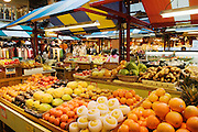 Produce stall at Lonsdale Quay Market & Shops, North Vancouver, British Columbia, Canada..