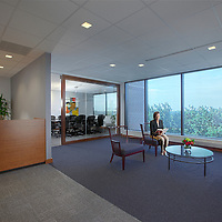 Architectural Interior image of Business Suites Town Center Reception Area in Columbia MD