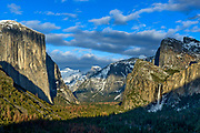 Winter Landscape photographs of Yosemite National Park, CA, USA