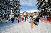 Skiiers at Alyeska Ski Resort.