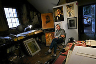 Washington, Connecticut: Dimitri Rimsky photographed in the studio of his late father the Russian artist Fedor Rimsky. (Photo by Robert Falcetti)
