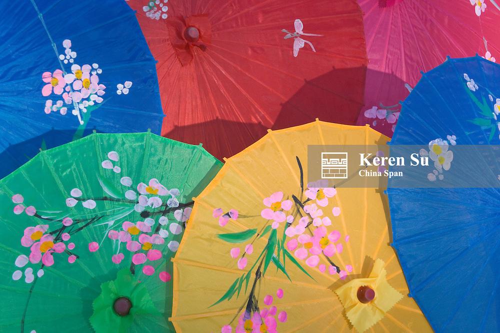 Silk umbrellas, China