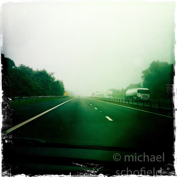 Motorway..Hipstamatic images taken on an Apple iPhone..©Michael Schofield.