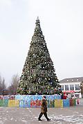 The Bennetts travel to Ukraine over the New Year holiday to visit Megan.  Walking around the main square in Oleksandriya, Ukraine.