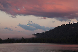 """Donner Lake Sunset 8"" - Photograph of a colorful sunset at Donner Lake in Truckee, California."