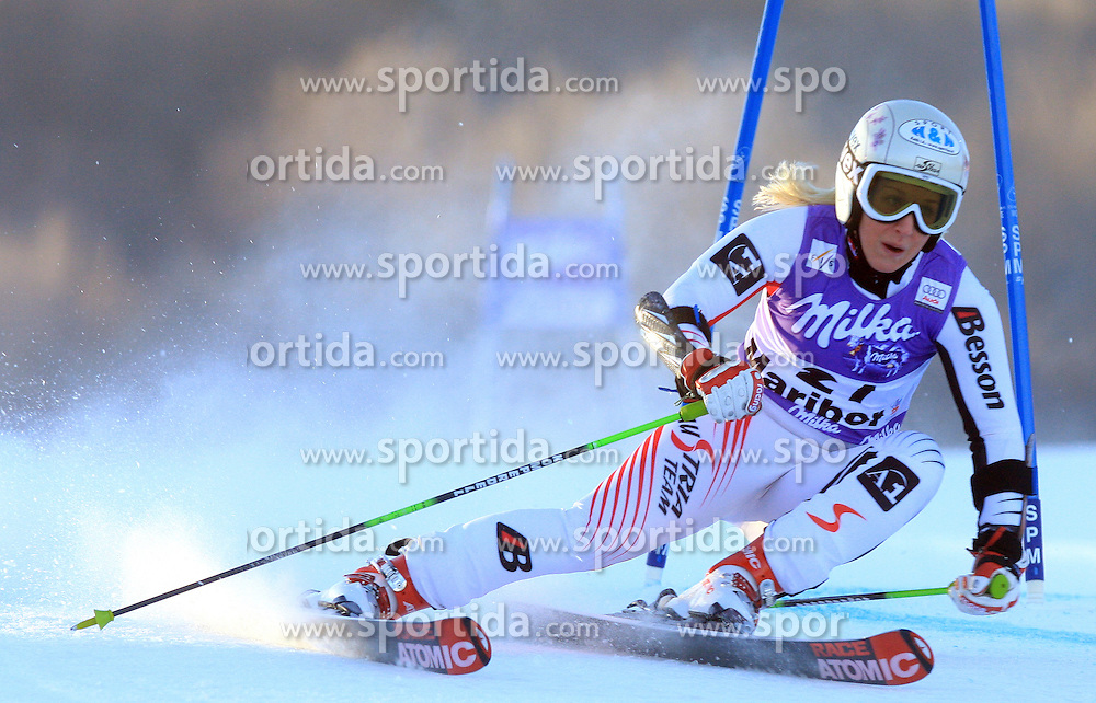 Eva-Maria Brem of Austria skiing in first run Maribor women giant slalom race of Audi FIS Ski World Cup 2008-09, in Maribor, Slovenia, on January 10, 2009. (Photo by Vid Ponikvar / Sportida)