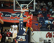 "Ole Miss vs. Illinois State's Jackie Carmichael (32) in a National Invitational Tournament game at the C.M. ""Tad"" Smith Coliseum in Oxford, Miss. on Wednesday, March 14, 2012. Illinois State won 96-93 in overtime. (AP Photo/Oxford Eagle, Bruce Newman)"