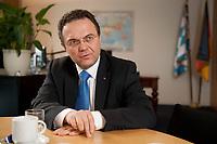 03 JAN 2011, BERLIN/GERMANY:<br /> Hans-Peter Friedrich, MdB, CSU, Vorsitzender der CSU Landesgruppe im Deutschen Bundestag, waehrend einem Interview, in seinem Buero, Jakob-Kaiser-Haus, Deutscher Bundestag<br /> IMAGE: 20110103-01-037