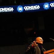 Most Reverand Archbishop Desmond Tutu gives the 2012 Undergraduate Commencement Address.<br /> <br /> Photo by Rajah Bose