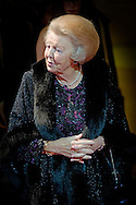 6-11-2015 - AMSTERDAM  - Princess Beatrix attends the Opera Gala at the National Opera & Ballet in Amsterdam. The Gala marks the 50th anniversary of the National Opera. Prinses Beatrix is aanwezig bij het Opera Gala in Nationale Opera & Ballet in Amsterdam. Het Gala markeert het 50-jarig bestaan van De Nationale Opera.   COPYRIGHT ROBIN UTRECHT