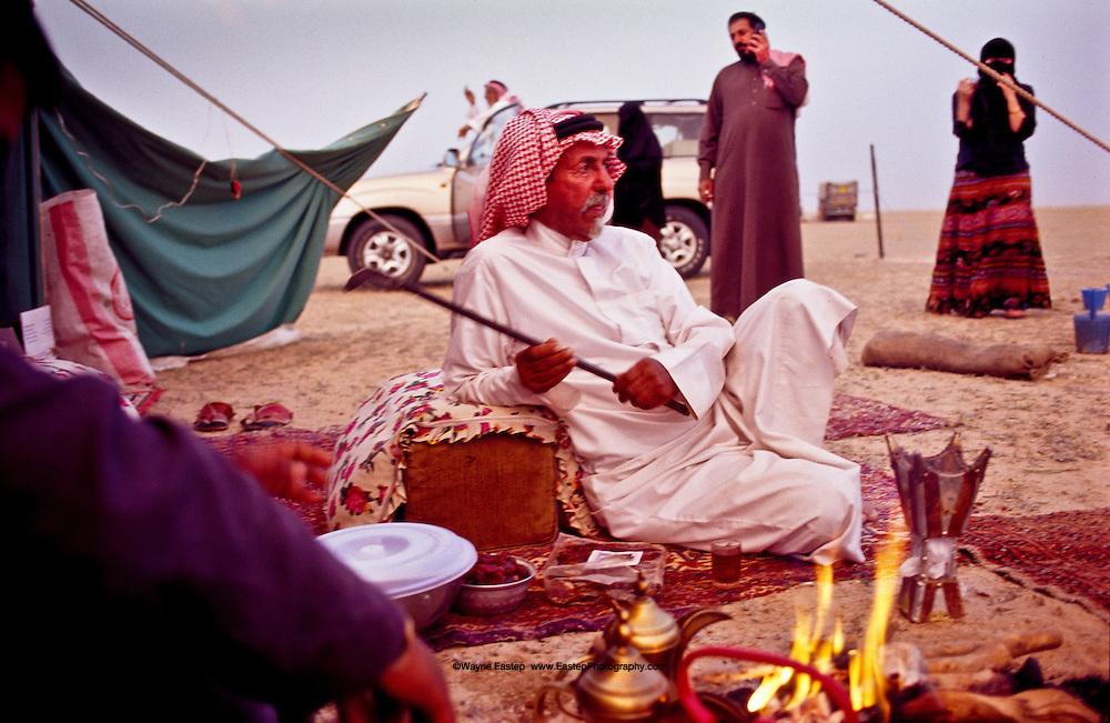 Layla Eastep visitng Sheikh Jaber Alamrah at his camp in Hafar Al-Batin, Saudi Arabia