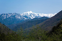 The Japanese Alps is a series of mountain ranges that bisect the main island of Honshu. The Japan Alps encompass the Hida Mountains, the Kiso Mountains and the Akaishi Mountains. These towering ranges include several peaks exceeding 3,000 metres in height, the tallest after Mount Fuji.