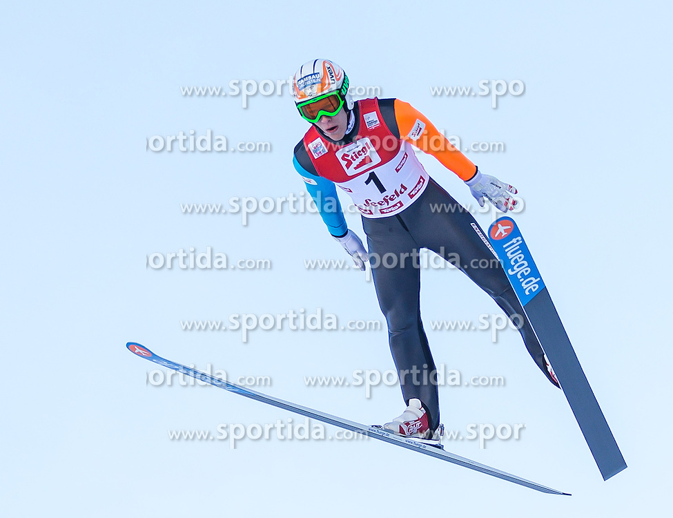 19.01.2013, Casino Arena, Seefeld, AUT, FIS Nordische Kombination, Skisprung, Probedurchgang, im Bild Franz Josef Rehrl (AUT) Franz Josef Rehrl of Austria during the Trial Round of Ski Jumping at FIS Nordic Combined World Cup in Sefeld, Austria on 2013/01/19. EXPA Pictures © 2013, PhotoCredit: EXPA/ Peter Rinderer