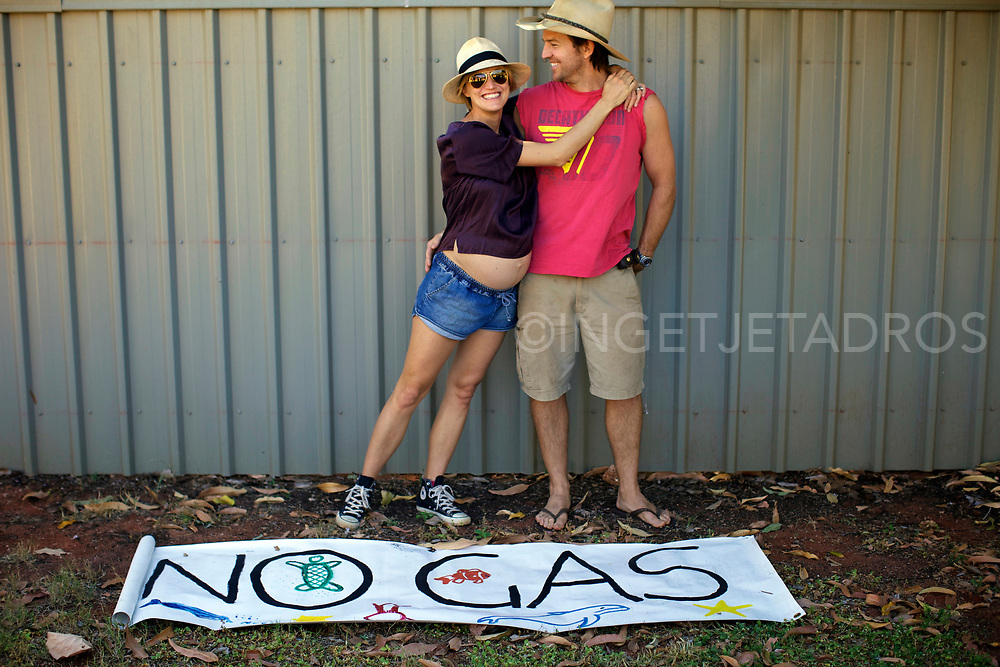Sutton family supporting the Broome Family gathering, showing that Broome Families do not want a gas hub North of Broome, WA