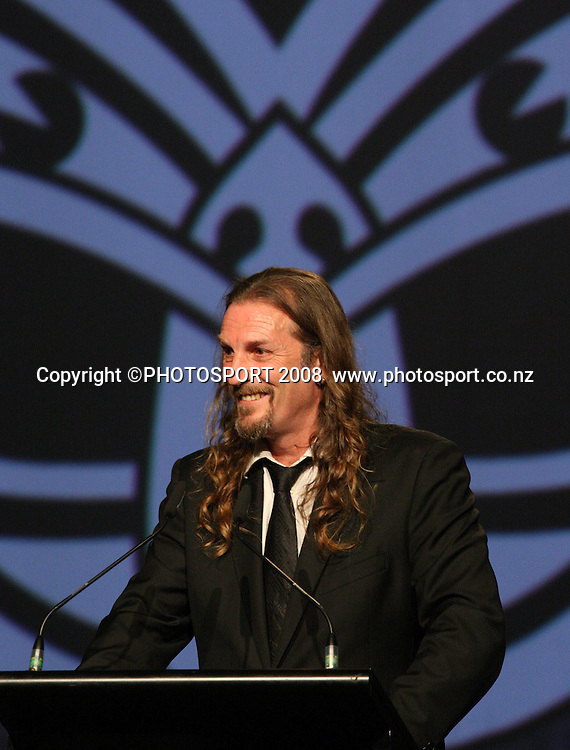 Ewan Gilmore. Vodafone Warrior's annual awards, Sky City Convention Centre, Auckland. 16 September 2008. Photo: Andrew Cornaga/PHOTOSPORT
