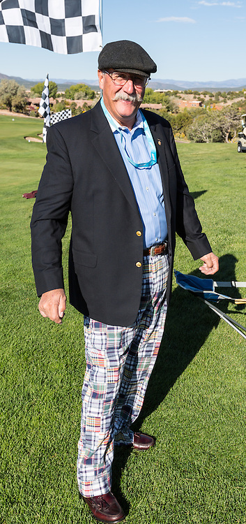 JD Roehrig, owner of the 1966 Shelby Mustang GT350, looks mighty dapper in the Shelby Paddock at the 2012 Santa Fe Concorso. Those pants needed a separate award!