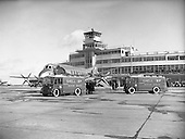 1954 - Arrival of new Vickers Viscount aircraft at Dublin Airport.