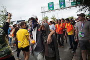 """""""March on the RNC"""" in Tampa, FL, on Monday, Aug. 27, 2012. ..Photograph by Andrew Hinderaker for TIME"""